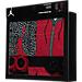 Back view of Infant Jordan Elephant Jumpsuit 5-Piece Set in Red/Black/White