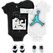 Front view of Boys' Infant Jordan Halftone 23 5-Piece Set in Blue/White/Black