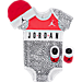 Front view of Infant Jordan Micro Elephant 3-Piece Set in Black/White/Red