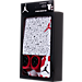 Back view of Infant Jordan Cement Allover Print 3-Piece Set in White/Red/Black
