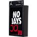Back view of Infant Jordan No Jays Off 3-Piece Set in Black/Red