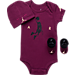 Front view of Infant Jordan Dunkin Toggle 3-Piece Set in Plum/Black