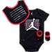 Front view of Infant Jordan AJ11 3-Piece Set in Black/Red