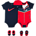 Front view of Infant Nike Swoosh Windrunner 5-Piece Set in 695