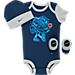 Front view of Infant Nike Mr. Air Max 3-Piece Set in Obsidian