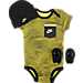Front view of Infant Nike Tri-Blend Tech 3-Piece Set in Yellow/Black