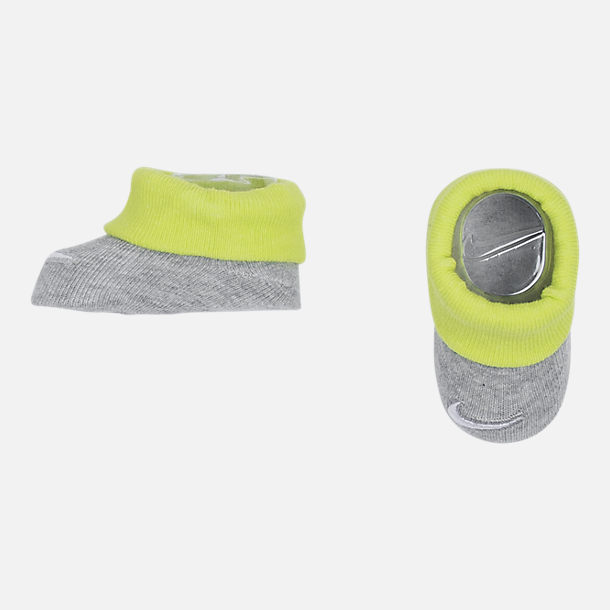 Alternate view of Infant Nike Tiny But Awesome 3-Piece Set in Grey Heather/Volt