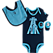 Front view of Infant Jordan Let There Be Air 3-Piece Set in Obsidian/Cerulean