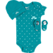 Front view of Infant Nike Air Stars 3-Piece Set in Blustery/Light Aqua