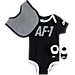 Front view of Infant Nike Air Force 1 3-Piece Set in Black/White