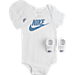 Front view of Infant Nike Color Shift 3-Piece Set in White/Blue