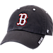 Front view of 47 Brand Boston Red Sox MLB Ice Clean-Up Adjustable Hat in Grey