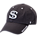 Front view of '47 Chicago White Sox MLB Ice Clean-Up Adjustable Hat in Grey