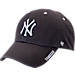 Front view of '47 New York Yankees MLB Ice Clean-Up Adjustable Hat in Grey