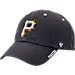 Front view of '47 Pittsburgh Pirates MLB Ice Clean-Up Adjustable Hat in Grey