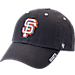 Front view of '47 San Francisco Giants MLB Ice Clean-Up Adjustable Hat in Grey