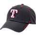 Front view of '47 Texas Rangers MLB Ice Clean-Up Adjustable Hat in Grey