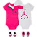Front view of Girls' Infant Jordan Sweatsuit 5-Piece Set in W35