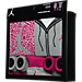 Back view of Girls' Infant Jordan Elephant Jumpsuit 5-Piece Set in Pink/Grey/White
