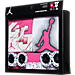 Back view of Girls' Infant Jordan Halftone 23 5-Piece Set in Pink/White