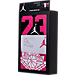 Back view of Infant Jordan 23 Wings 3-Pack Set in White/Pink/Black