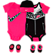 Front view of Girls' Infant Nike Patterned 5-Piece Set in A96