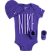 Front view of Infant Nike Iridescent 3-Piece Set in Purple