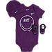 Front view of Infant Nike Smiley 3-Piece Set in Purple/Iridescent