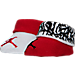 Front view of Infant Jordan Elephant Print Booties in Gym Red/Wht
