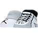Front view of Infant Air Jordan Retro 1 Booties in White/Black