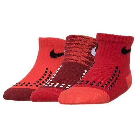Infant Nike Warp Speed 3-Pack Gripper Socks