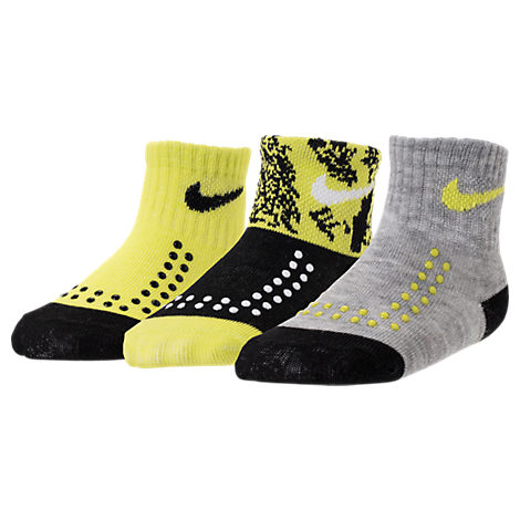 Infant Nike Gripper Quarter Socks - 3 Pack