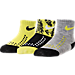 Front view of Infant Nike Gripper Quarter Socks - 3 Pack in Black/Grey/Bright Cactus