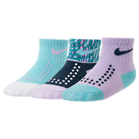 Girls' Infant Nike Gripper Quarter Socks - 3 Pack