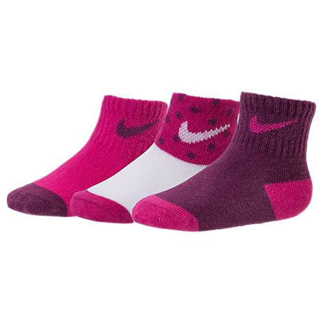 Infant Nike 3-Pack Dot Gripper Socks
