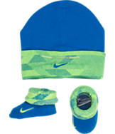 Infant Nike Knurling Dazzle Cuff Hat and Bootie Set