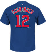 Men's Majestic Chicago Cubs MLB Kyle Schwarber Name and Number T-Shirt