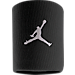 Front view of Air Jordan Jumpman Wristband in Black/White
