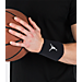 Back view of Air Jordan Jumpman Wristband in Black/White