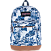 Front view of JanSport Right Pack Expressions Backpack in White Artist Rose
