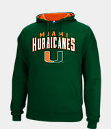 Men's J. America Miami Hurricanes College Cotton Pullover Hoodie