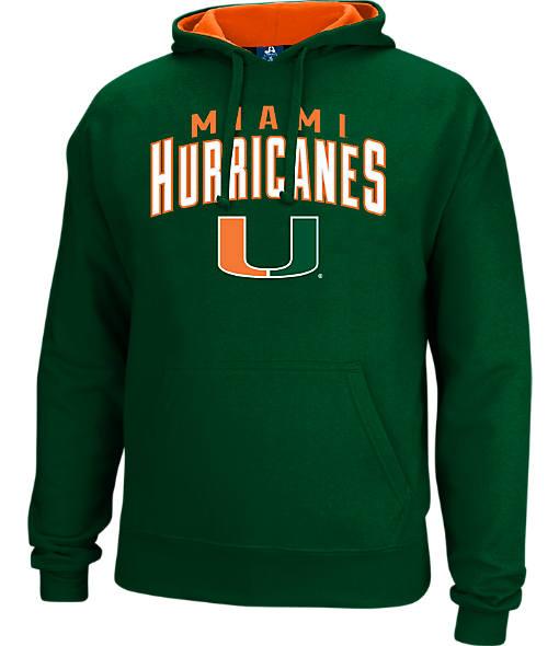 Men's J. America Miami Hurricanes College Cotton Pullover Hoodie