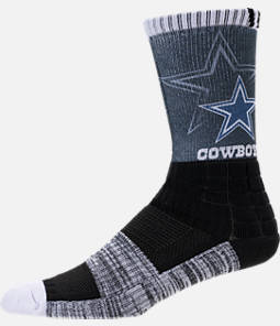 For Bare Feet Dallas Cowboys NFL Blackout Socks Product Image