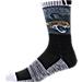 For Bare Feet Jacksonville Jaguars NFL Blackout Socks Product Image