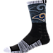 Front view of For Bare Feet Los Angeles Rams NFL Blackout Socks in Charcoal