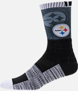 For Bare Feet Pittsburgh Steelers NFL Blackout Socks Product Image