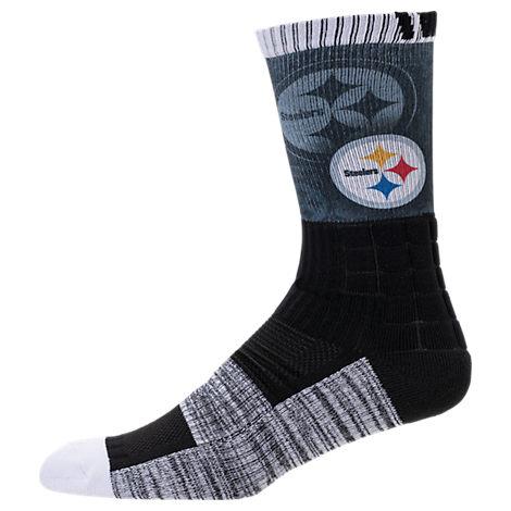 For Bare Feet Pittsburgh Steelers NFL Blackout Socks