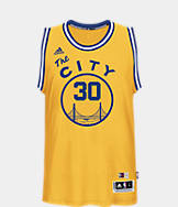 Men's adidas Golden State Warriors NBA Stephen Curry Hardwood Classics Jersey