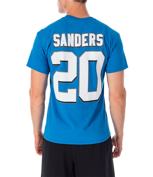 Men's Majestic Detroit Lions NFL Barry Sanders Name and Number T-Shirt