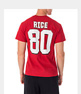 Men's Majestic San Francisco 49ers NFL Jerry Rice Name and Number T-Shirt